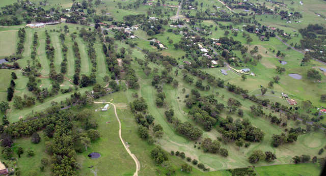 Aerial view from Bega Country Club