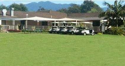 A view of the clubhouse at Bellingen Golf Club