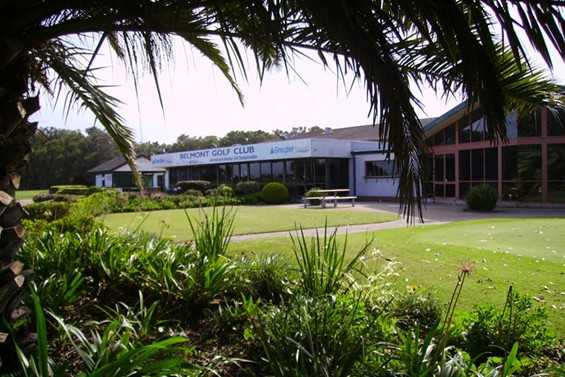 A view of the clubhouse at Belmont Golf Club