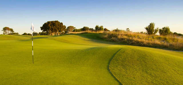 A view of the 13th green at Bonnie Doon Golf Club