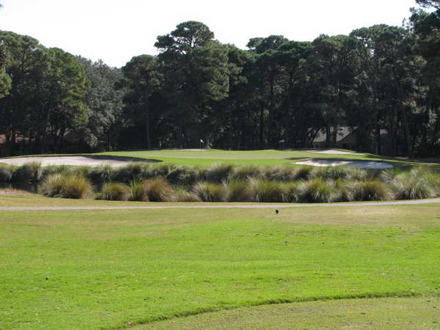 The approach to the first hole on the Barony Course at Port Royal Golf Club