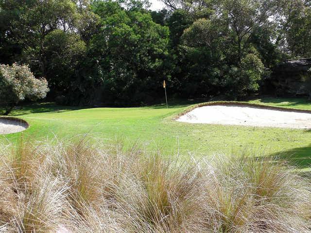 A view of the 3rd green at Castlecove Country Club