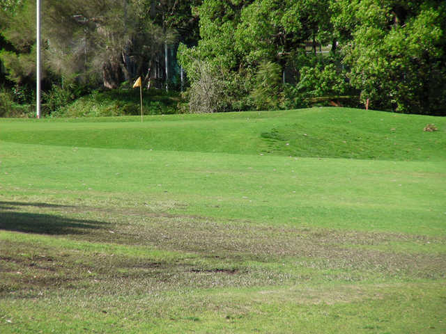 A view of the 8th green at Castlecove Country Club