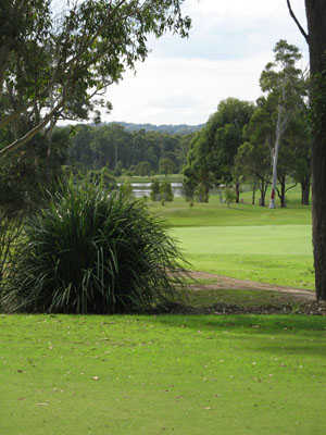 A view of green at Charlestown Golf Club