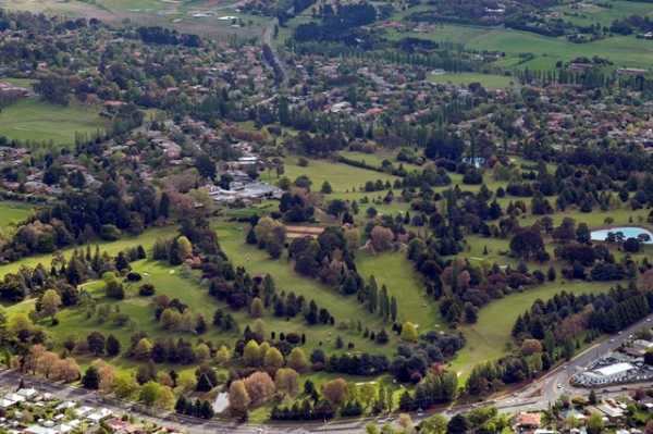 Aerial view from Duntryleague Golf Club