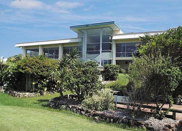 A view of the clubhouse at Forster Course at Forster Tuncurry Golf Club