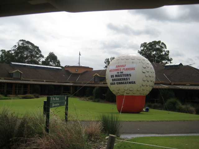 A view of the pro shop at Georges River Golf Course