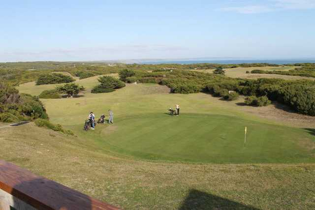 A view of green at King Island Golf Club