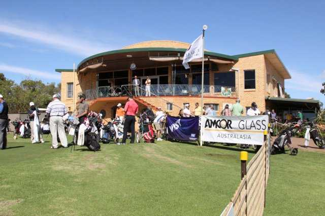 A view of the clubhouse at Griffith Golf Club