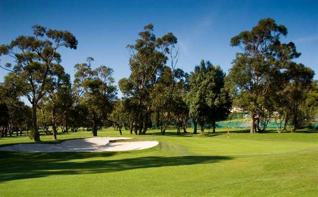 A view of the 8th green at Mona Vale Golf Club