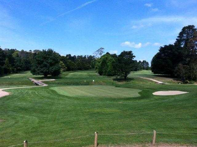 A view of the 18th green at Moss Vale Golf Club