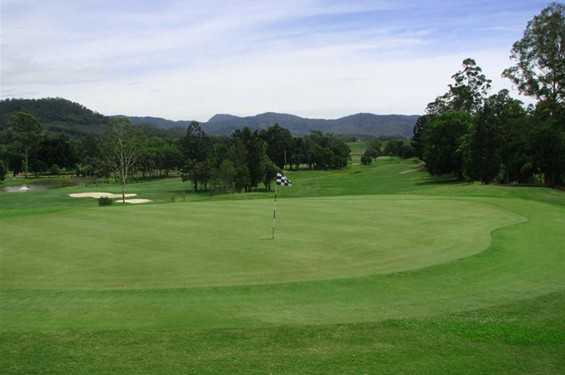 A view of green #18 at Murwillumbah Golf Club