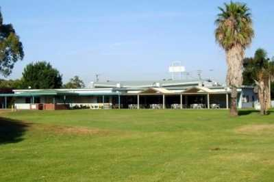 A view of the clubhouse at Muswellbrook Golf Club