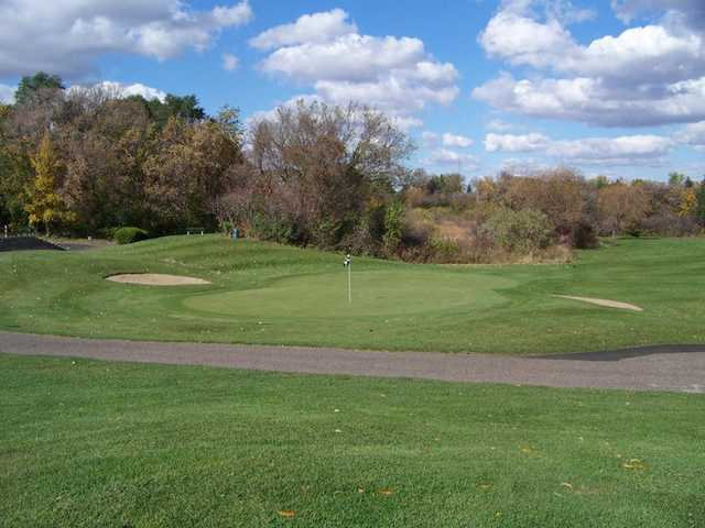 A view of the 15th green at Cannon Golf Club