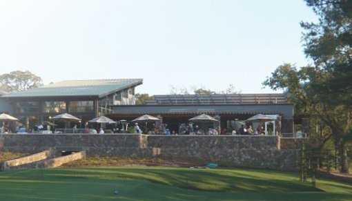 A view of the clubhouse at Bennett Valley Golf Course