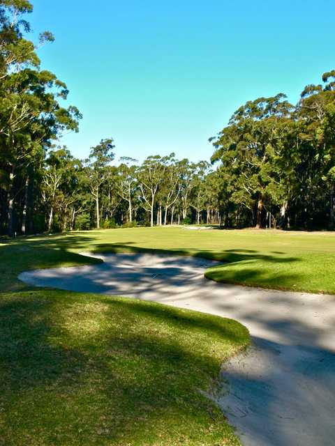 A view of the 23th hole at Pambula Merimbula GC