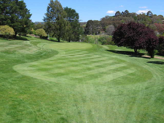 A view of the 15th green at Queanbeyan Golf Club
