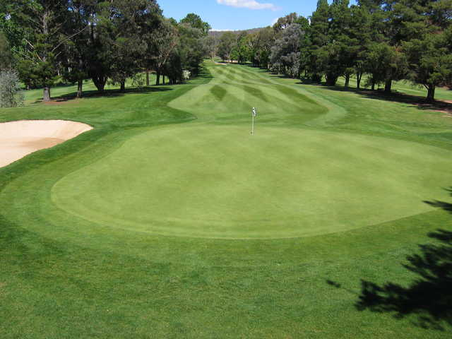 A view of hole #2 at Queanbeyan Golf Club