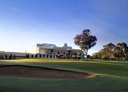 A view of the clubhouse at Rich River Golf Club Resort