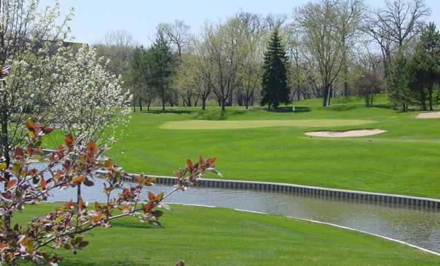 A view of the 10th hole at Hilldale Golf Club