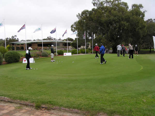 A view of the practice area at Tocumwal Golf Club