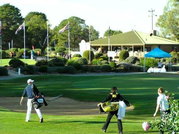 A view of the clubhouse at Tocumwal Golf Club