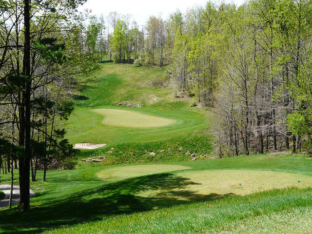 A view of green #13 from tee at Black Diamond Golf Course
