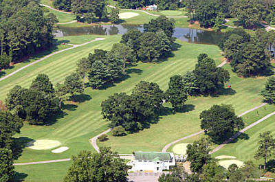 Aerial view from Lafayette Golf Course