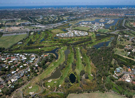 Aerial view from Emerald Lakes Golf Club