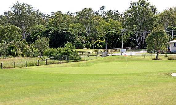 A view of the 7th green at Ipswich City Golf Club.