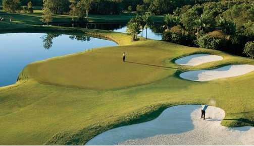A view of the 17th hole at Noosa Springs