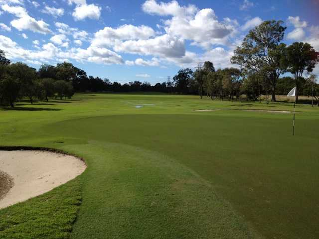 A view of the 13th hole at Bay Course from Nudgee Golf Club.
