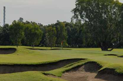 A view of the 12th green at Royal Queensland Golf Club