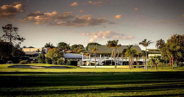 A view of the clubhouse at Wynnum Golf Club
