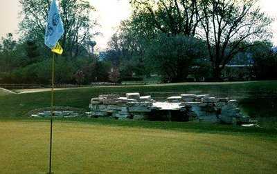 A view of a hole at Salt Creek Golf Club