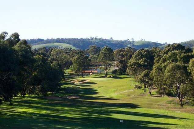 A view of the 12th hole at Flagstaff Hill Golf Club