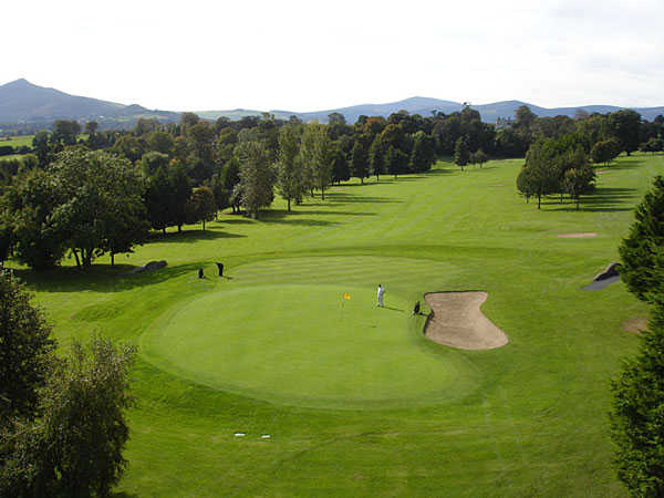 A view of the 15th hole at Old Conna Golf Club