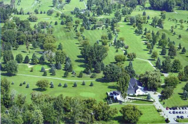 Aerial view from Glenbrier Golf Course