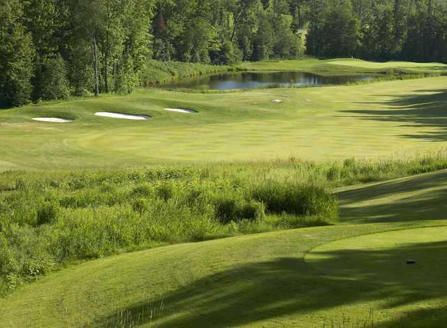 A view of the 14th hole at Deerhurst Highlands