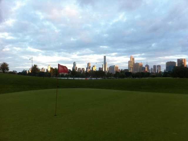 A view of the 3rd hole at Albert Park Golf Course