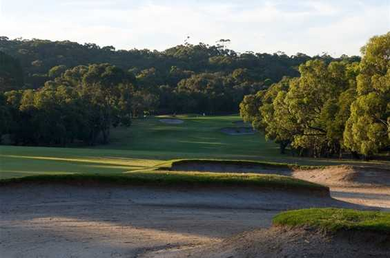 A view of the 8th fairway at Anglesea Golf Club