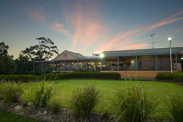 A view of the clubhouse at Anglesea Golf Club