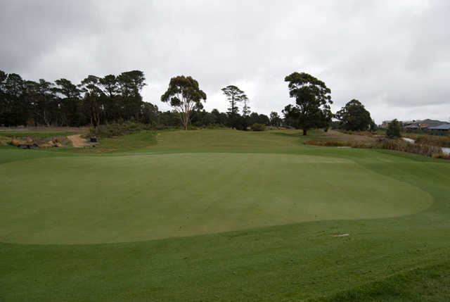 A view of the 4th hole at Ballarat Golf Club