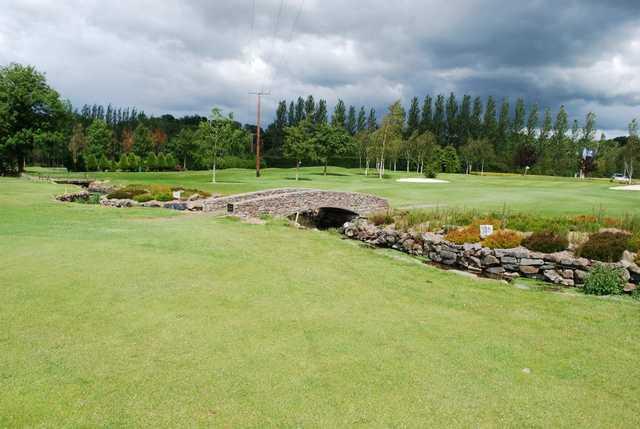 A look towards the 18th green at Mannan Castle Golf Club