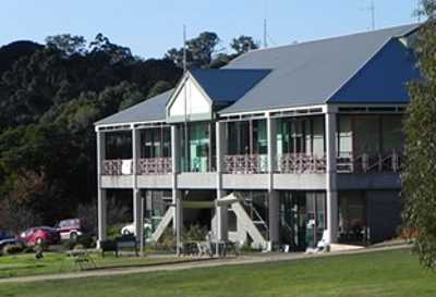 A view of the clubhouse at Buninyong Golf Club
