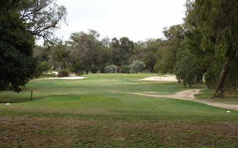A view from a tee at Churchill Park Golf Club.