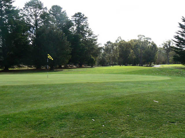 A view of the 12th green at Gisborne Golf Club