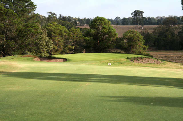 A view of hole #13 at Gisborne Golf Club