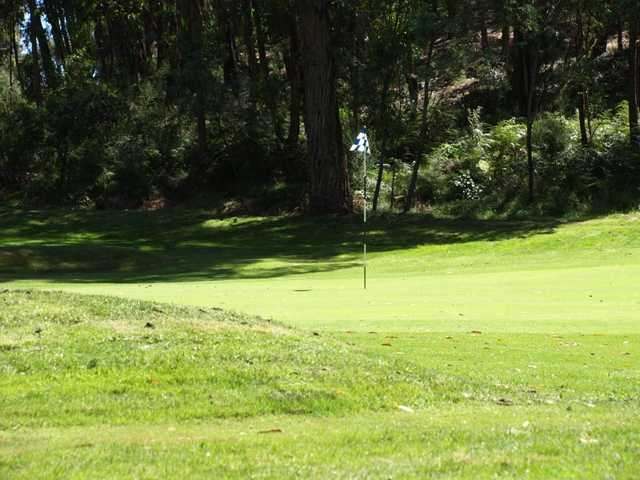 A view of the 8th hole at Hepburn Springs Golf Club