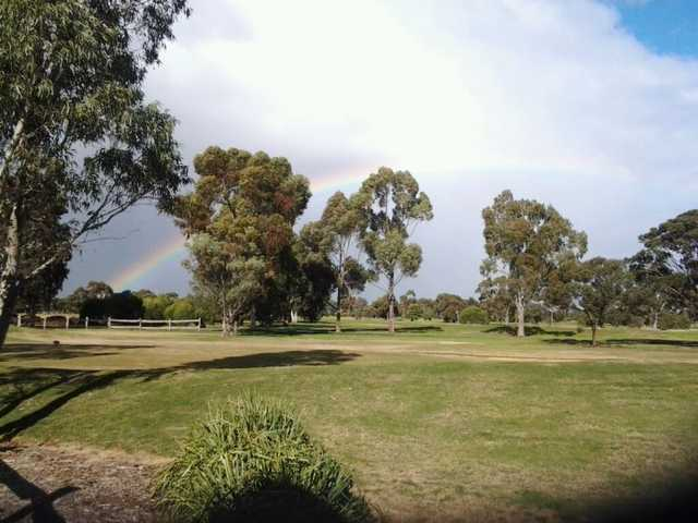A view of rainbow over Keilor Public Golf Course